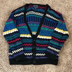 Coogi-Inspired Vintage Cardigan